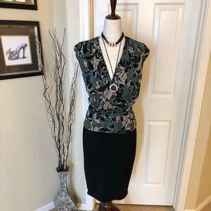 Karen Kane short sleeved blouse Sz L